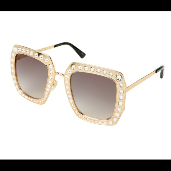 e121b924fa40 Gucci Accessories | Gg 115s Goldtone Square Sunglasses | Poshmark